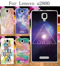 DIY Painted Hard Plastic &Soft TPU Phone Cases For Lenovo A1000 A2800 A2800-D A2800D Case Back Protection Shell Cover Star Sky