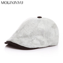 MOLIXINYU Cute !! 2017 New Baby Cotton Berets Baby Hats Children Hat Female Beret Stripe pattern Caps Kid Flat Cap For Boy/Girl