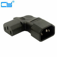 Free Shipping Right / Left Angled IEC 320 C13 to C14 Male to Female Extension Vertical Power Adapter for LCD LED Mount TV