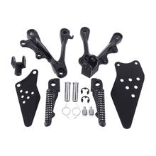 Motorcycle Accessories Front Rider Footrest Foot Pegs Bracket Set For Kawasaki Ninja ZX6R 2009-2014(China)