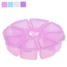 HOT 8 Grids Storage Box Small Plastic Box Desktop Storage Box Makeup Organizer container jewelry Box Organizer Cosmetic Solid