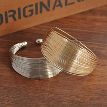 New Women multilayer Open Wide Style Cuff Bracelet Bangle Jewelry Women statement jewelry Free shipping