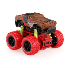 1:34 Animal Inertia Car Toy Off-Road Car 4WD Alloy Big Wheels Shock Resistant Inertia Vehicle Colorful Friction Powered Car Toy(China)