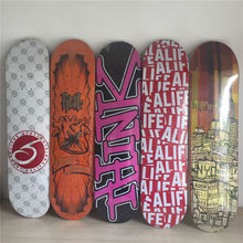 "2014 Quliaty Multi fade skateboarding deck for new sk8ers black logo with size 7.5"" PLAN B  Pattern Skate Deck Patins Street"