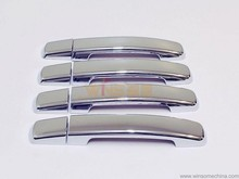 Chrome One/ No Keyhole Door Handle Cover Garnish Trim for Nissan Navara D40 Frontier 2006-2014 8pcs/set Car Styling Accessories