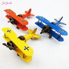 Jia-Gui Luo Retro metal tin double plane model office desktop decoration Contracted interesting gift