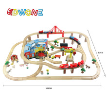 Thomas and His Friends -142PCS Thomas Electric Train Track Set Wooden Railway Track EDWONE fit Thomas and Brio Gifts For Kids