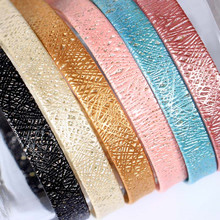 0.5cm-1cm Wide Glitter Leather Fabrics  Strip DIY Cord Leather Color Ribbon Rope Band Jewelry Bracelet Necklace Belt Accessories