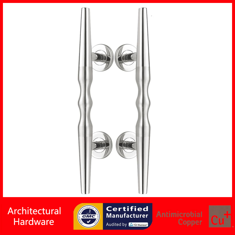 304 Stainless Steel Door Handle Polish And Brushed Pull Handles For Entrance/Entry Wooden Doors PA-384<br>