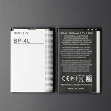 Apply to  BP-4L, E63, E71, N97, E72, E52, E90, N97i mobile phone batteries Rechargeable Li-ion Cell