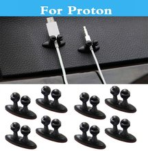 New 8Pcs Car Charger Line Clasp Clamp Headphone/USB Cable Clip For Proton Gen-2 Inspira Perdana Persona Preve Saga Satria Waja