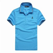 Men Collar Polo T-Shirts Plain Slim Fit Gym Sleeve Tee Tops Sports Golf Tennis Shirt(China)