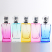Hot 30ml 1pcs/lot Silver Gray Cap Colorfull Clear Glass Bottle Spray Perfume Bottle Glass Automizer Free Shipping