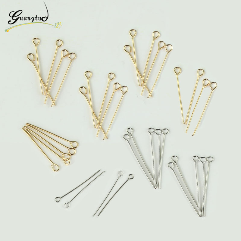 100Pcs/lot Number 9 Shape Eye Pins Findings For Jewelry Making Fabrication Bijoux DIY Jewelry Accessories Free Shipping(China)