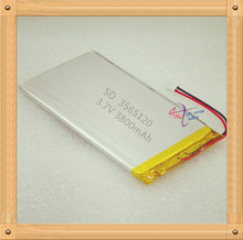 XHR-2P 2.54 3800mAh 3565120 3.7V Rechargeable batteries polymer lithium battery