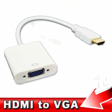 Hot Male to Female HDMI to VGA Converter Adapter for PC Laptop Tablet Support 1080P HDTV HDMI2VGA whole sale