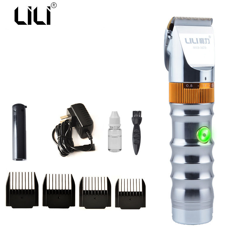 LILI Fast Charging Hair Clipper Rechargeable 2000Mah Li-battery 20W Powerful Electric Hair Trimmer Professional For Salon Barber<br>