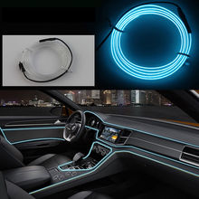 band edge cars LED cold light interior atmosphere strips clip-on type refit decoration strips shine usb/cigar lighter/Driver