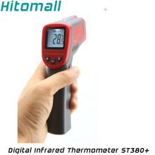 Pocket Non-Contact Digital Laser Temperature Gun IR Infrared Thermometer -32C to 380C(-25.6 - 716F) Emissivity 0.95 12:1 ST380+