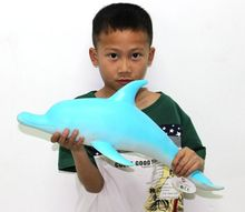 52cm Extra Large Software Animal Model Toys PVC Environmental Dolphins Simulation Model Marine Life Model Kids Gifts Home Decor