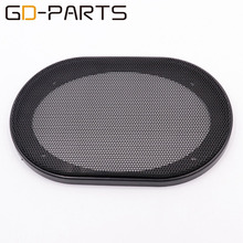 "GD-PARTS New 4""x6"" Loudspeaker Cover Car Audio Subwoofer Plastic Steel Mesh Grill Decorative Circle 1PC(China)"