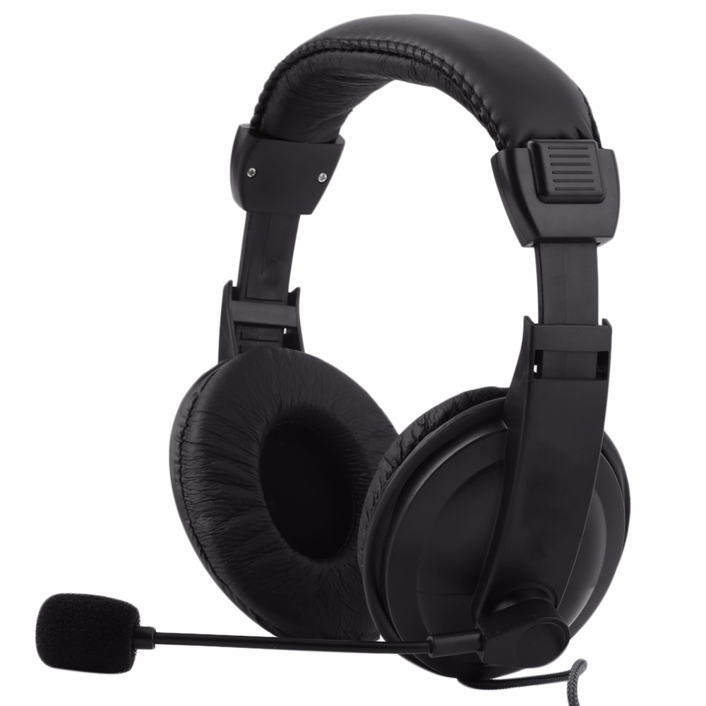 2018 New Gaming Headphone Wired Music Game Headset Stereo Sound Microphone Mic 3.5mm For PC Laptop Computer Phone Black Style