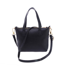 Hot Sell Women Handbag Casual New Fashion Shoulder Bag PU Leather Solid Color Messenger Bag Tote Ladies Purse Handbag 2017 New