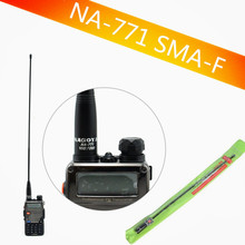 Original nagoya na-771 SMA Female amplified Dual Band Antenna For two way radio Baofeng UV-5R uv-82 TK-3107 PX-777 hf antenna