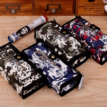 Boys School Pencil Case CF Pen Bag Student Stationery Camouflage Pencil Bag Box School Supplies with Code Lock(China)