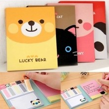 1 PCS Cartoon Stationery Kawaii Animal A6 Size Memo Pad Sticky Notes N Times Stickers Papeleria Memo Flags Post It