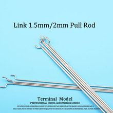 3pcs L300mm Link Stainless Steel Connecting Rod 1.5mm/2mm  for Servos to Connect the Steering rudder