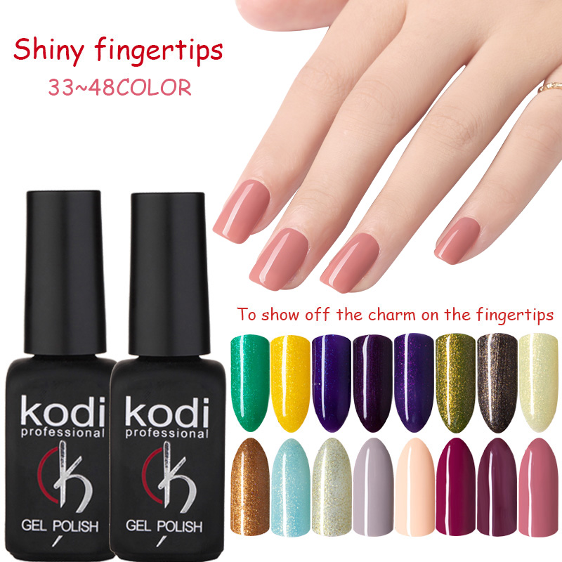 MDSKL 48 Color Semipermanent Paint Healthy Eco-friendly Material Professional Nail art Gel Gel Nail Polish Gel UV Paint