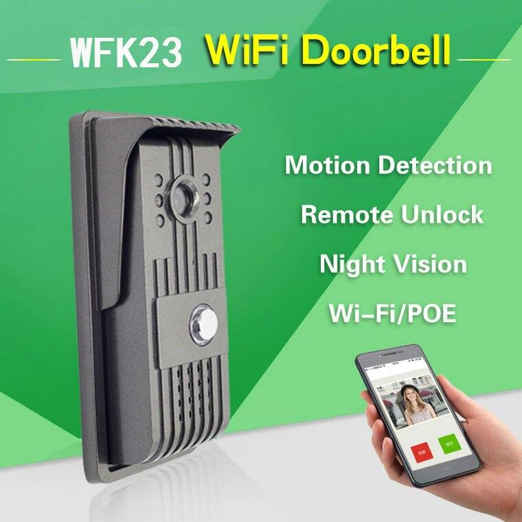 720P Wireless WI-FI Video Doorbell Intercom Montion Detection IR Night Vision CMOS Waterproof WiFi Remote Surveillance Camera <br><br>Aliexpress