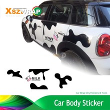 Car Styling Milk Cow Car Body Sticker Personalized Customized Waterproof Car Stickers Cartoon Decals For SMART MINI(China)