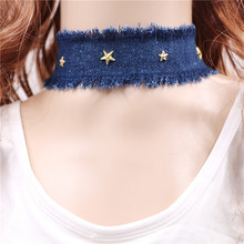 Fashion Personality Charm Star Statement Choker Necklaces Vintage Cowboy Collar Necklace For Women