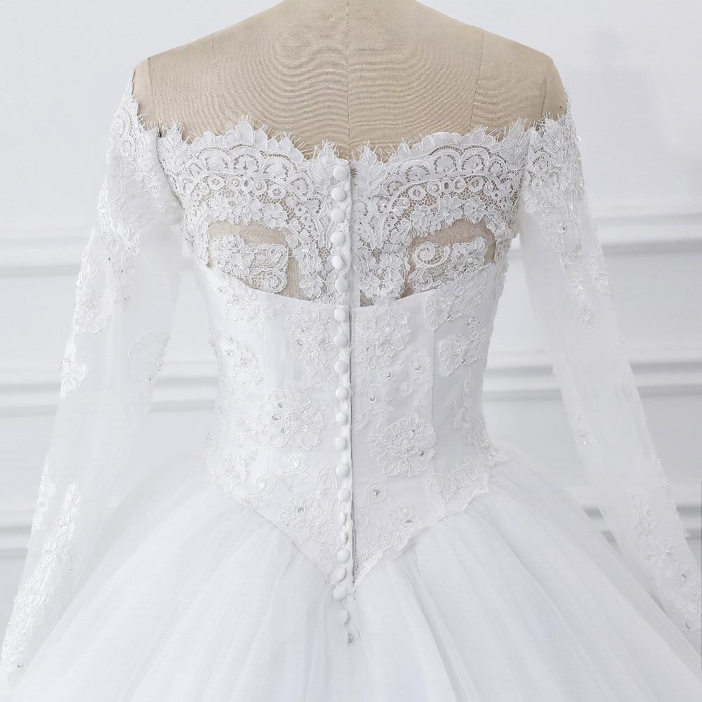 Lover Kiss Vestidos de Noiva Ball Gown Wedding Dress Long Sleeves Wedding Dresses Tulle Vestido de Noiva Casamento Mariage Boda 6
