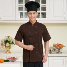 Summer Hotel Uniform for Kitchen Cooking Clothing Restaurant Chef Jacket Double-breasted Man Woman Chef Uniform Work Wear 89