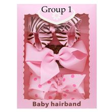 New 3pcs/set Girls Bow Knot Headband Sets Leopard Elastic Hairbands with Gift Box Gift Hair Accessories(China)