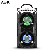 ALBK 267BT Wireless Bluetooth Speaker Portable Stereo LoudSpeaker with LED Lighting Effects Support TF Crad USB FM for Phone PC