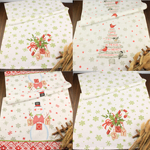 4pcs Cotton Kitchen Towels Christmas Tree Snowman Gift Washing Towel With Printed Design Home Decoration
