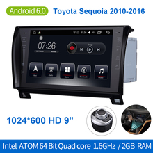 "Android 6.0 9"" Car DVD Player Stereo Radio Auto GPS Navigation Bluetooth 64Bit Quadcore 2GB/32GB for Toyota Sequoia 2010-2016"