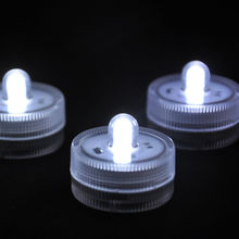 12*Waterproof Underwater Battery Powered Submersible LED Tea Lights Candle for Wedding Party Decorations