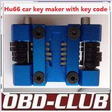 2016 Newest Hu66 locksmith car key maker car key tool machine + code software to do the whole lost key by hand Free shipping