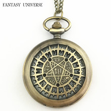 FANTASY UNIVERSE Freeshipping wholesale 20pc a lot Black Butler pocket watch Necklace Dia47mm OOK01