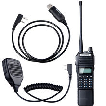 NKTECH BL-8 4200mAh 7.4V Battery and BaoFeng UV-82 Dual Band PTT  Ham Transceiver Two Way Radio Walkie Talkie+MIC+Cable