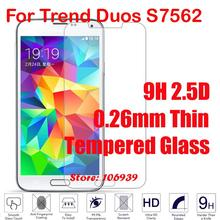 Cheap New 9H 2.5D 0.26mm Phone Mobile LCD Display Accessories Tempered Temper Glass Verre For Samsung Galaxy Trend Duos S7562