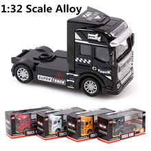1:32 scale alloy truck , super truck head, pull back alloy model car, children's toys, free shipping!