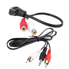2RCA to IP-BUS Connector Car Audio Radio 3.5mm Aux Cable Pioneer Adapter Connection Line for Iphone Ipod Huawei Smart Phone(China)