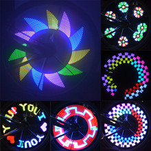 32 LED DIY Bicycle Light Colorful Bike Wheel Spokes Light Motor Lamp Cycling Tire Signal LED Luces For Night Riding Bicicleta(China)