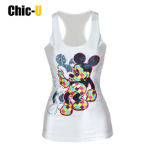 TRYNNA Womens Tank Tops Goddess Pattern 3D Print White Vest T Shirt Summer Sexy Fitness Femme Camisole(China)